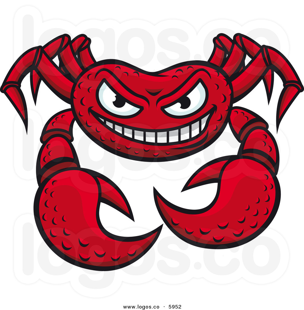 royalty-free-vector-of-a-grinning-mean-crab-logo-by-seamartini-graphics-5952