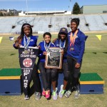The Fab Four! From left to right, Gabriella Cantrell, Camille Watson, Nijae Jones, and Kortni Smyers-Jones NCS Women's Champions 2013