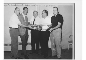 Thanks for the photo Jon Simonian. From left to right: Warren Spahn,Tony Lema, Casey Stengul, Yogi Berra, and Chris Cannizaro – first guy from San Leandro to make Big Leagues.