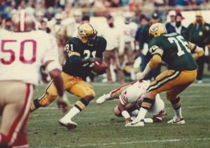 Tim Stokes, #76 for the Green Packers against 49ers.